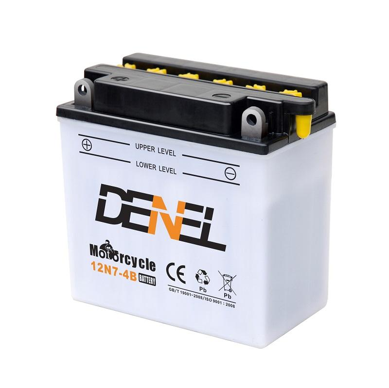 Motorcycle top quality dry charged 12v 7ah storage battery
