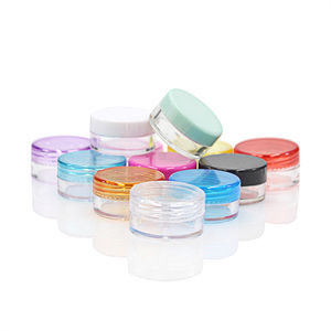 IBELONG wholesale 3g 5g mini small cheap empty round plastic cosmetic sample jar 5ml low moq