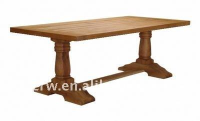 DT-4019 Solid Oak Furniture Refectory 2 Seater Dining Table