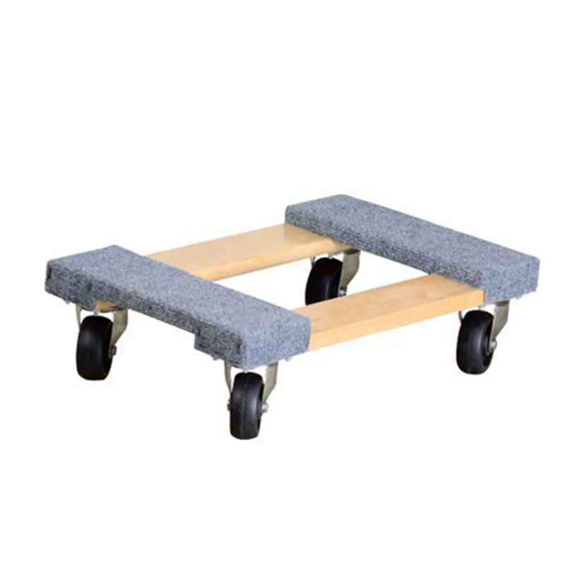 Heavy duty wood furniture 4 wheels dolly wood moving wheel dolly