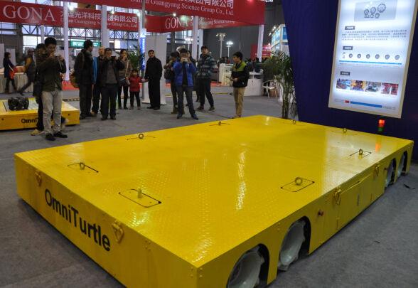 Grande cargaison sans pilote véhicule électrique tansfer plat voiture mieux de camion