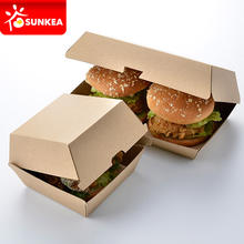 Custom printed paper folding boxes for burger