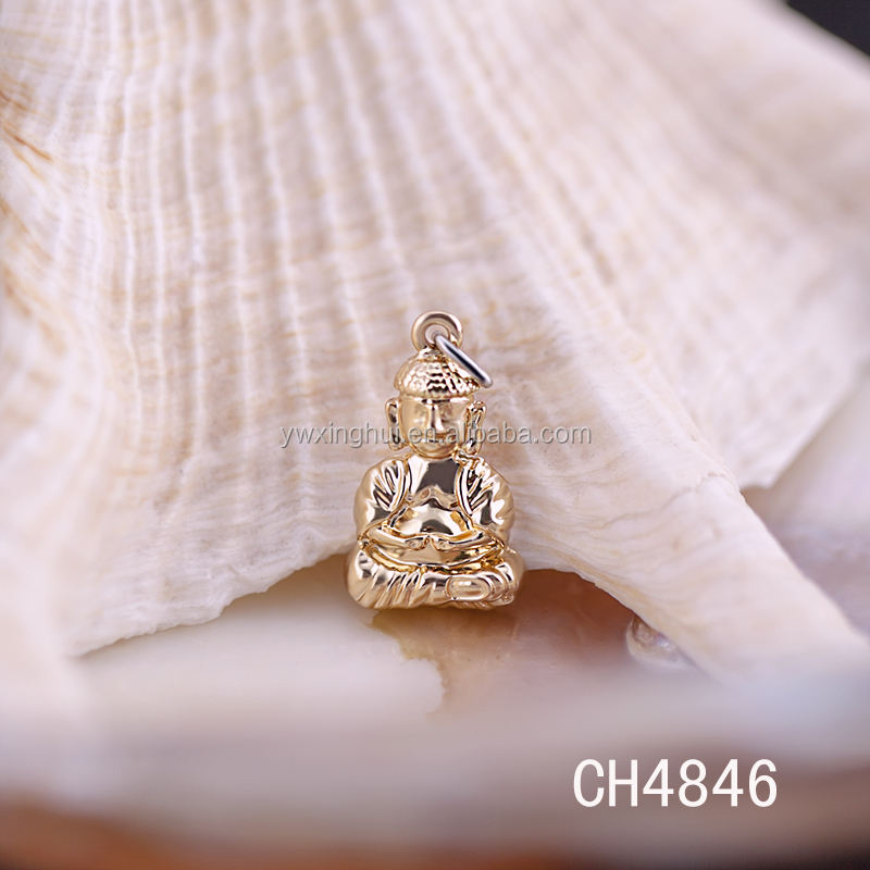 Factory direct wholesale gold plating budda charms
