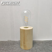 BEST SELL warm white light wooden home decor led restaurant table lamp Edison decorative lamp