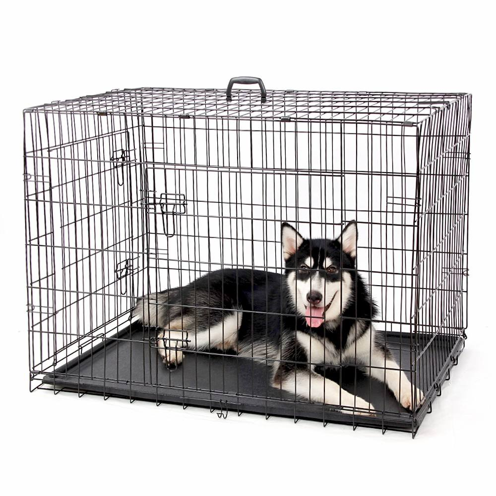 Wholesale High Quality Multiple Sizes Kennel Cheap Metal Foldable Stainless Steel Pet Dog Cage