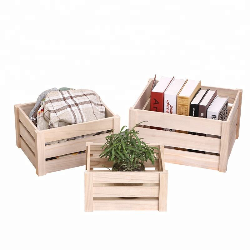 Farmhouse decor wooden fruit crates