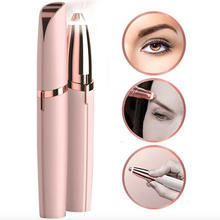 Portable Womens Electric USB or battery Painless Hair Removal Eye Brow razor Pen Eyebrow Trimmer