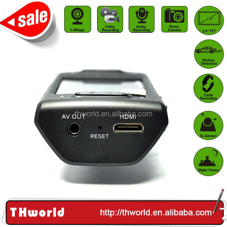 Summer sale 2.4 inch screen vehicle black box with wide-angle 5.0MP lens