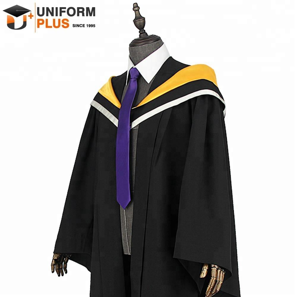 UK Australia Melbourne Oxford black bachelor graduation gowns and robes