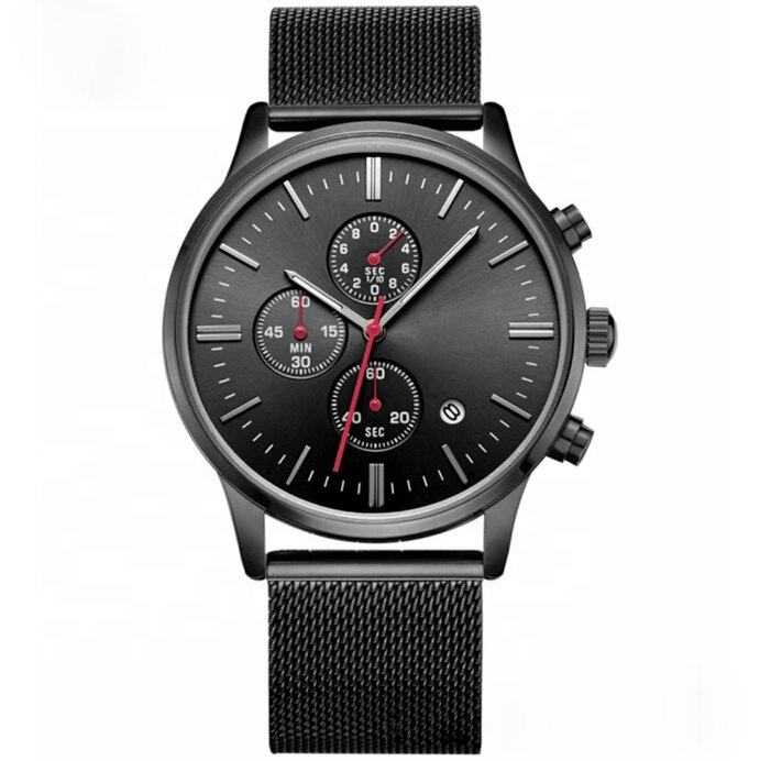 Factory hot sale alloy men's brand own logo customized able watch manufacturer with different colors men's custom watch