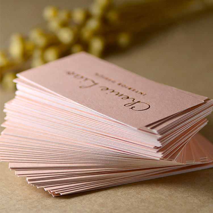 (High) 저 (quality luxury custom full color printing 두꺼운 paper 두 번-sided debossed business card printing