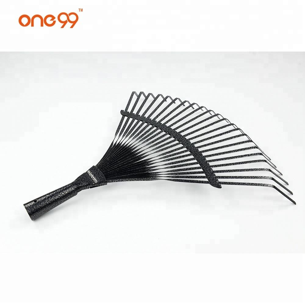 Iron Rake Heads 2020 New Design Green Fan Lawn Iron 22t Leaf Rake Head