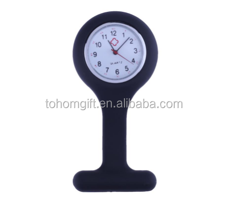 Factory wholesale Brooches Silicone Quartz Cheap Medical Nurse Fob Watch