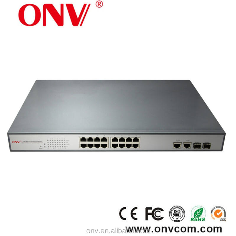 650 W IEEE802.3AF ve 802.3at uyumlu 18 port POE anahtarı <span class=keywords><strong>Dahua</strong></span> <span class=keywords><strong>CCTV</strong></span> kameralar için