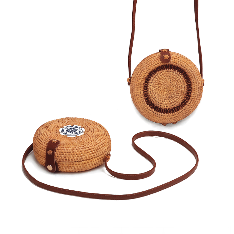 Welcome China Factor Round Edge Straw Rattan Woven Bag Used In Beach