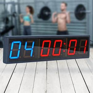 Grote Draagbare 4 Inch 6 Digitale Led Crossfit Interval Training Timer Voor Gym
