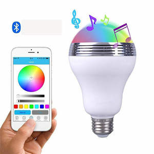 Smart Led-lampe E27 BT APP Control Musik Audio Lautsprecher RGB Licht Lampe RGB Farbwechsel Smart Wireless Music Bluetooth