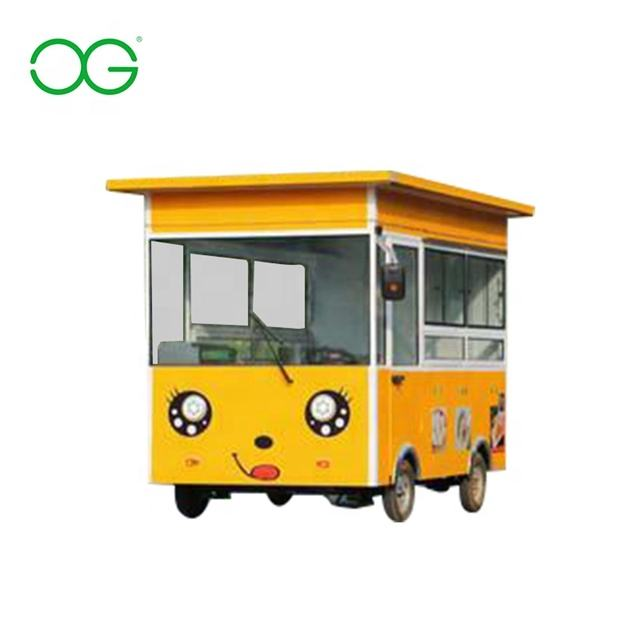 China electric food cart for sale Thailand breakfast BBQ Chicken Steak Pizza small food truck
