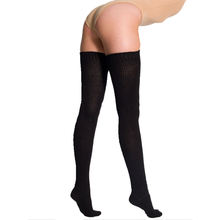 Factory Wholesale Cotton Stockings Solid Thigh High Socks