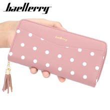 Baellerry 2019 New Style Fashion Dot Pattern PU Leather Short Section Wallet For Women With Tassel,Lady Coin Pure phone bag
