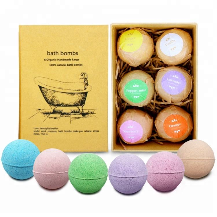 2018 New Product All Natural Bath Bombs With Organic Essential Oils Fragrance Bath Bombs Gift Set