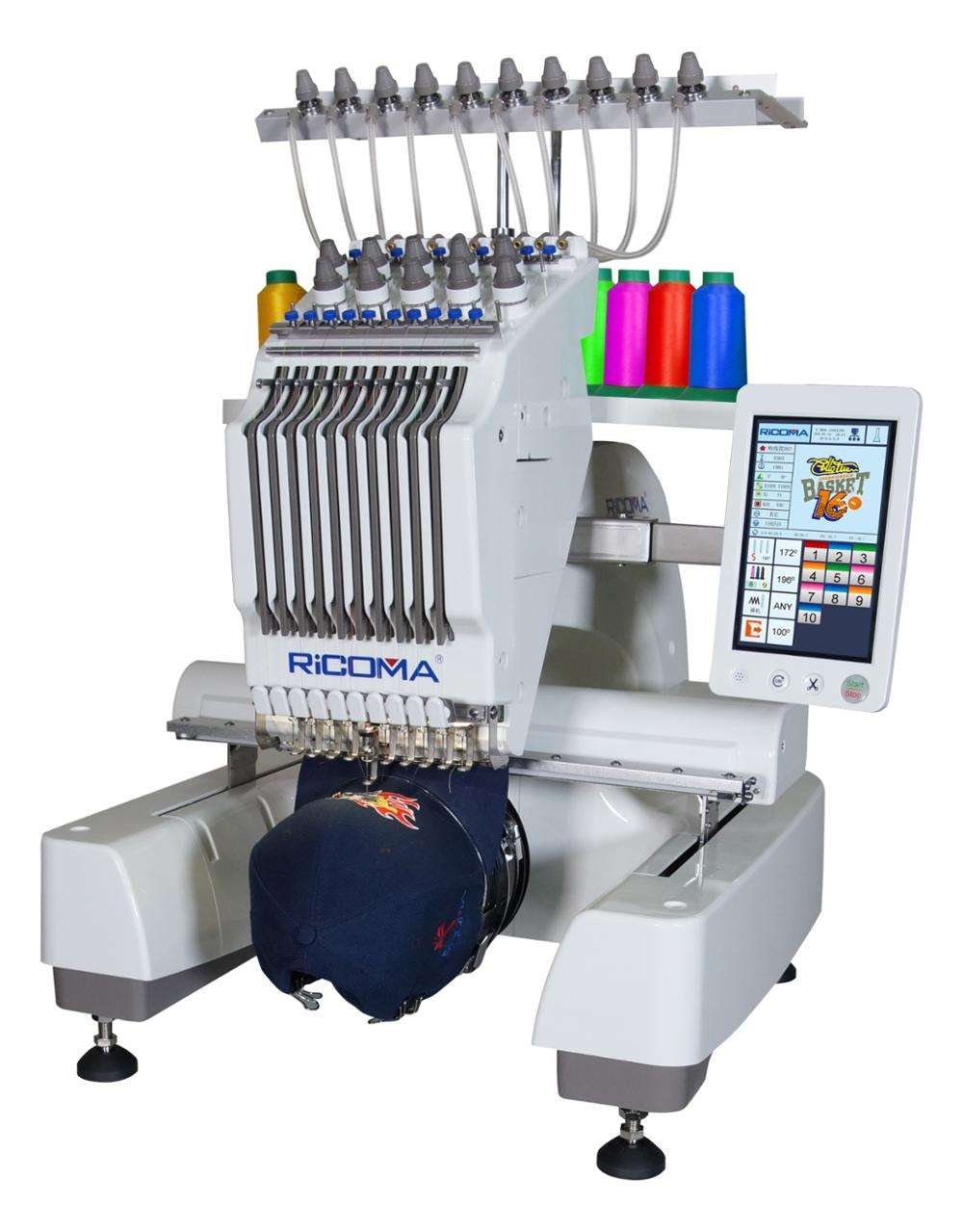 RiCOMA 10 Needle Home Application Single Head Computerized Embroidery Machine