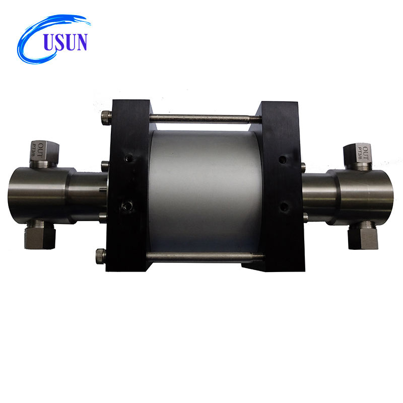USUN Model: XT39 39:1 rato 200-300 Bar output air driven liquid booster pump for pressure testing