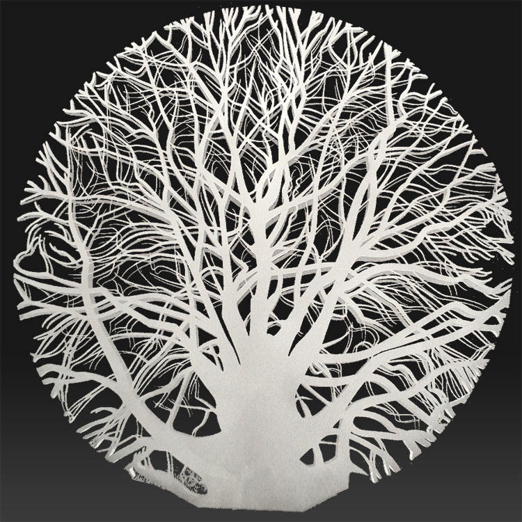 Mirror polished metal arts New product stainless steel tree sculpture for hotel garden decoration