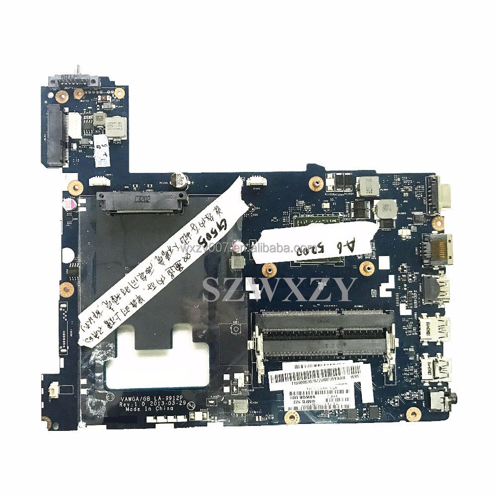 Original High Quality New For Lenovo G505 Laptop Motherboard Intel LA-9912P 90003029 A6-5200 Processor