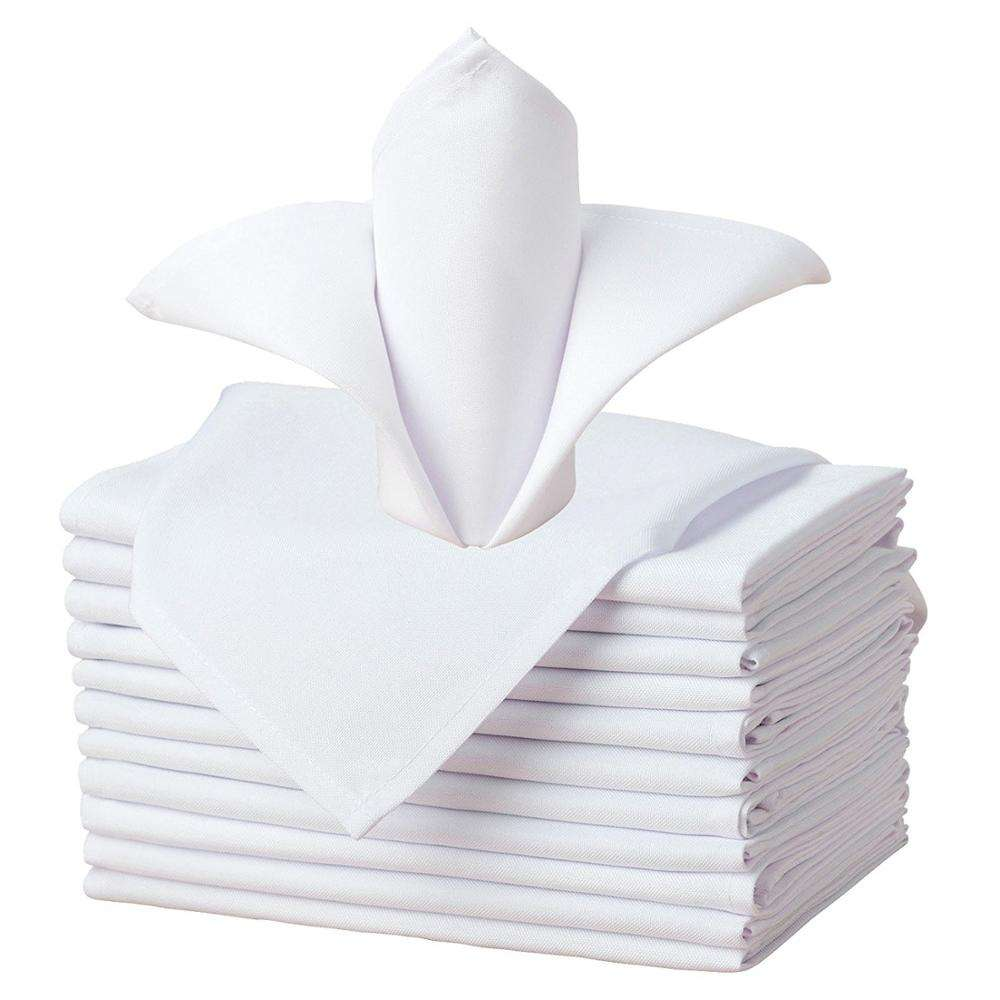 wholesale custom white polyester wedding napkins table napkin hotel napkin