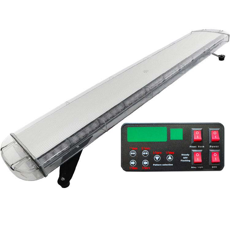 New arrival 88 LED 117CM emergency vehicle led strobe warning light bar with multifunctional digital display controller