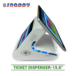 15.6inch SMS Integration QMS Server with Ticket Dispenser queue printer