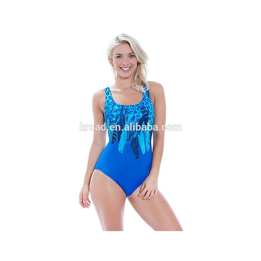 Hot selling girls one piece swimsuit women swimsuit, sublimation printing ladies swim wear