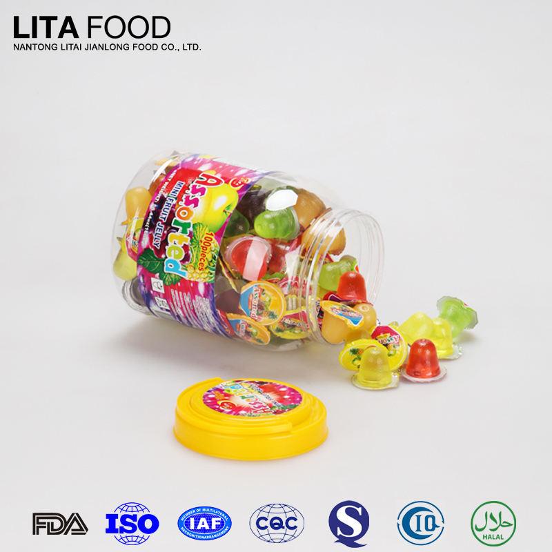 China barato mini esmagamento jelli doce lita alimentos jelly pudim