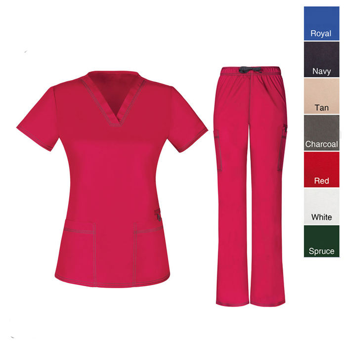 Europe Style Fashion Medical Scrub Uniforms Sets For Women And Men In Colorful