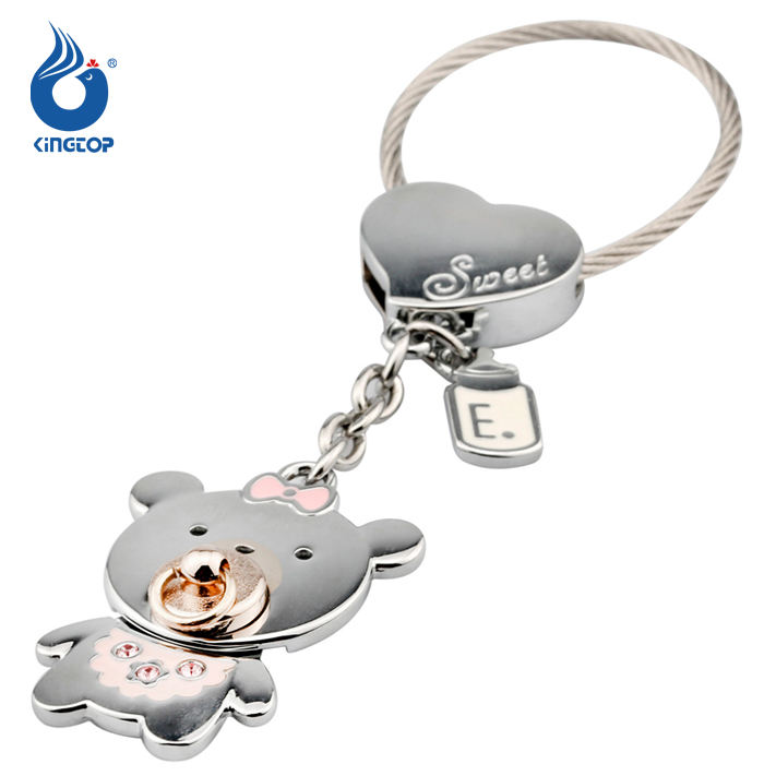 Metal keychain teddy baby bear
