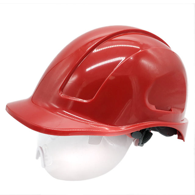 oil and gas industrial safety helmet with retractable eye shield EN397 industrial safety Helmets