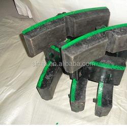 CRRC High Abrasion Brake shoe Pads manufacture China