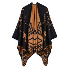 Women's geometric pattern Indian style acrylic shawls and scarves