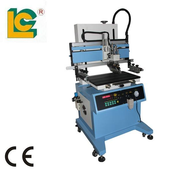 LC-400P flatbed screen printing machine with vacuum table for packaging box