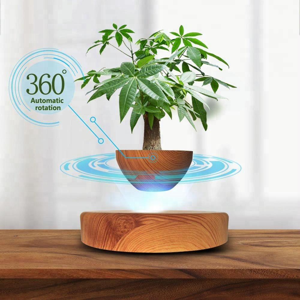 HCNT Levitation Mini Wood Grain Flowerpot air bonsai floating bonsai pot