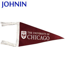 wholesales sublimation printing color logo advertising use high quality cheap price customized felt pennant browning