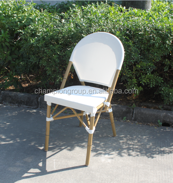 French Style Cafe Chairs White sling fabric bistro chairs AS-6417
