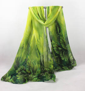 Wholesale green Leaf printed cotton shawl scarf, high quality 2015 printed scarf,Yiwu pashmina lady Scarf