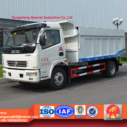 dongfeng 5ton hermetic garbage truck, waste disposal truck for sale