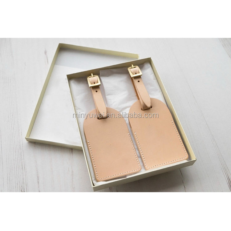 beige designer luggage tags genuine leather honeymoon travel luggage case tags gift travel bag tags with gift box hot
