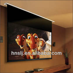 Factory low price 200 inch matte white motorized projector screen