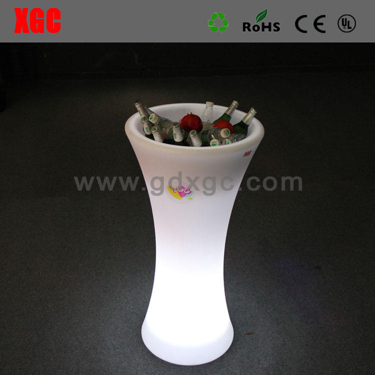 led lit up party ice bucket cooler for bar/modern design lighting ice bucket table,led lit ice bucket/New durable wholesale