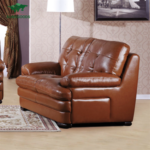 Factory Supply Furniture Chesterfield Germany Leather Sofa Set 1 2 3