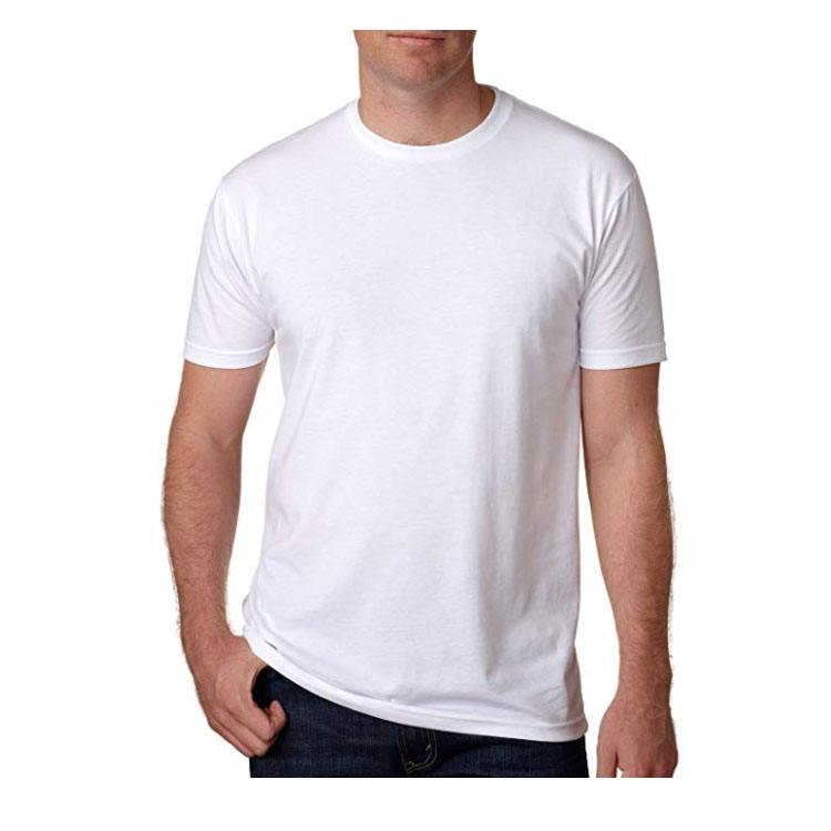 Factory direct cheap promotion men custom printing advertising plain white polyester basic t shirt
